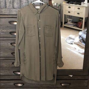 Long sleeve, button up dress
